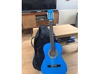 Blue 3/4 Guitar