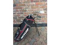 Dunlop Junior Golf Stand Bag Complete With Dunlop Max Golf Clubs Great Starter