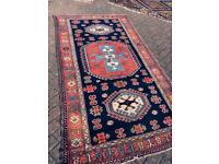 Blue and red Yahyali rug