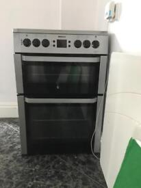 Electric double oven ceramic hob