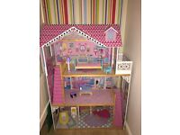Annabelle Dolls House with Furniture in Good Condition