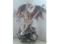 HUGE COLLECTIBLE GUARDIAN DRAGON WARRIOR STATUE/ORNAMENT FROM DARK LEGENDS! £45 OVNO