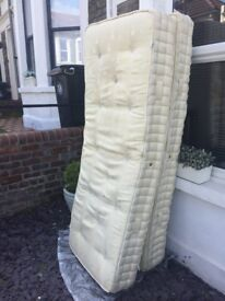 FREE king sized mattress (comes in two halves and zips together)