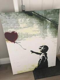 Large Banksy Canvas