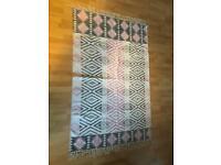 Bohemian cotton woven rug
