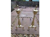 Brass Firedogs