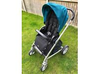 Joie chrome pushchair and carry cot