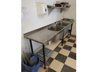 Heavy Duty Double Sink with Bays, Great Quality. Cheapest Available on Market and Gumtree.