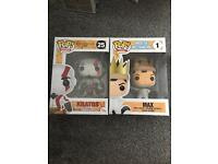 Max and Kratos Funko Pops