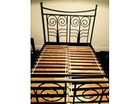 IKEA black double bed frame