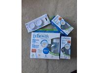 NEW Dr Brown's Starter Kit, 2 Bottles & Travel Caps