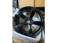 "Original genuine Audi 19"" rotor alloys. Gloss black 5x112 mint condition"
