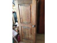 Small wooden wardrobe- would suit a child's room or nursery