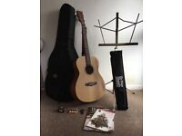 Tanglewood Roadster TWR 0 Acoustic Guitar and accessories