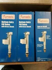 Flowmasta bottom entry fill valves brass shank.