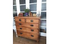 GENUINE PINE ANTIQUE CHEST FREE DELIVERY LDN🇬🇧