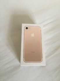 iPhone 7 256GB Gold Brand new sealed factory unlocked sim-free with one year Apple Warranty for sale