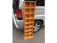 Solid pine bookcase unit