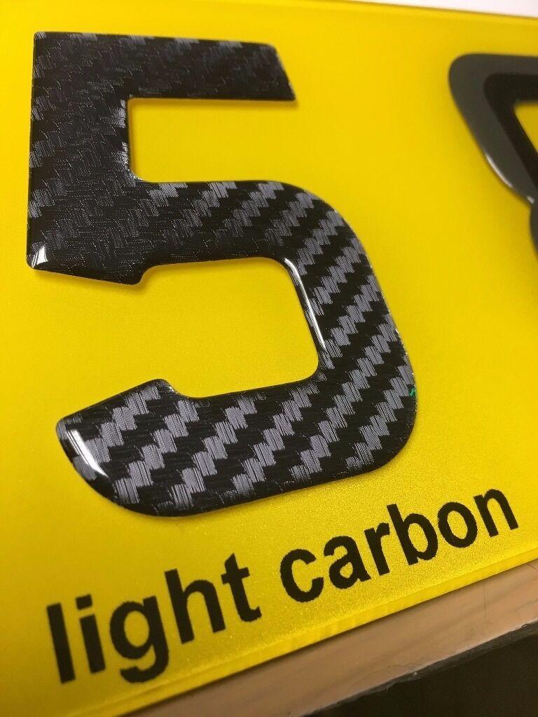 3d gel domed digit domed diy registration reg number plate carbon