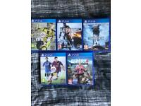 5 PS4 games for sale!