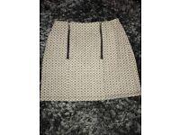 Black and white patterned skirt