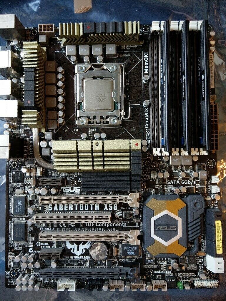 Asus Sabertooth X58 motherboard with i7 and 12gb ram | in Ellesmere Port,  Cheshire | Gumtree