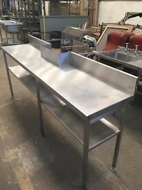 Stainless steel, large prep bench