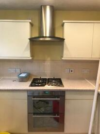 CDA double oven, hob and extractor