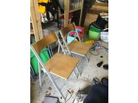 Two collapsible oak habitat dining chairs