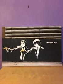 Banksy Pulp Fiction Canvas
