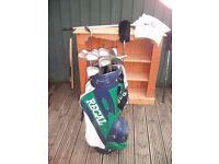 Set of Regal Golf Clubs and Bag