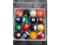 9 ball traditional pool balls