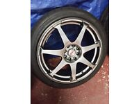 Alloy Wheels with Tyres (4-stud fitting)