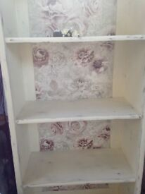 Tall Cream Bookcase - Upcycled