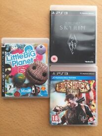 3 PS3 Games £8 - Skyrim, Bioshock Infinite, Little Big Planet