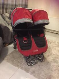 Baby jogger city mini double stroller Buggy pushchair twin pram