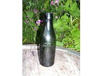 HICKS & Co Ltd ST AUSTELL GREEN BEER BOTTLE WITH OLD HEAVITREE BREWERY STOPPER. FREE UK DELIVERY