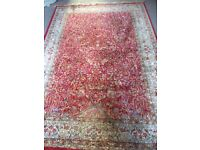 Red beige gold Egyptian rug 61x90 inch