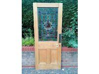 Old antique pine door