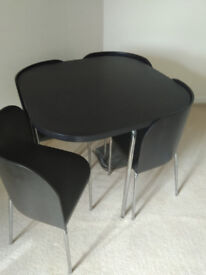 IKEA Black Fusion table & 4 chairs