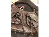 Real leather just cavalli shoulder bag