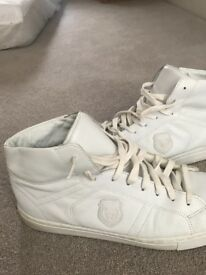 The Kooples Trainers - All White High Tops - Size 10