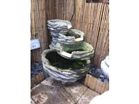 Outdoor feature water fountain