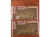 2 x Runrig tickets. Stirling Castle, 17th Aug
