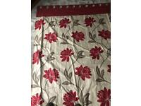 Made to measure Harlequin red/cream curtains