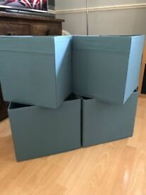 Teal blue storage cubes
