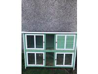 Rabbit Hutch 5ft Green & White