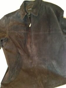 Men's Large Dark Brown Suede Coat - Excellent Condition Kitchener / Waterloo Kitchener Area image 6