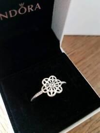 Genuine Pandora lace floral ring