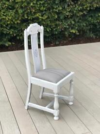 Beautiful French antique oak chair